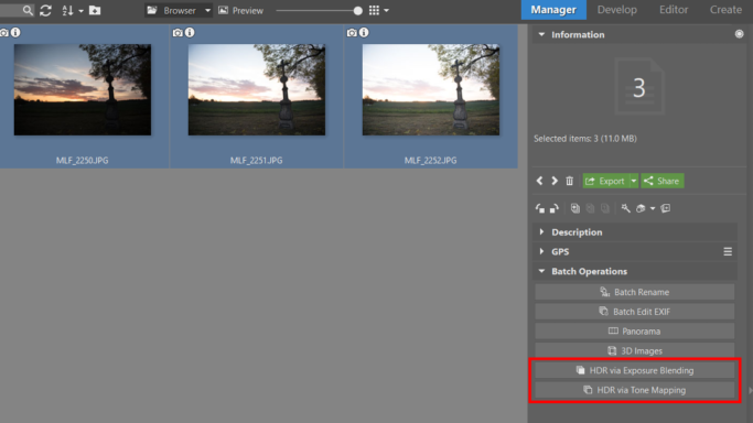 HDR: Choose the right HDR function for your needs.