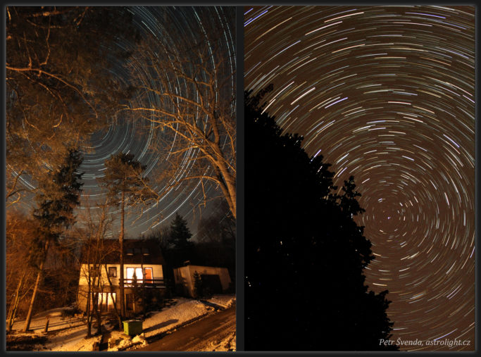How to Photograph the Stars: Composites of 341 & 81 exposures at 30 second intervals.