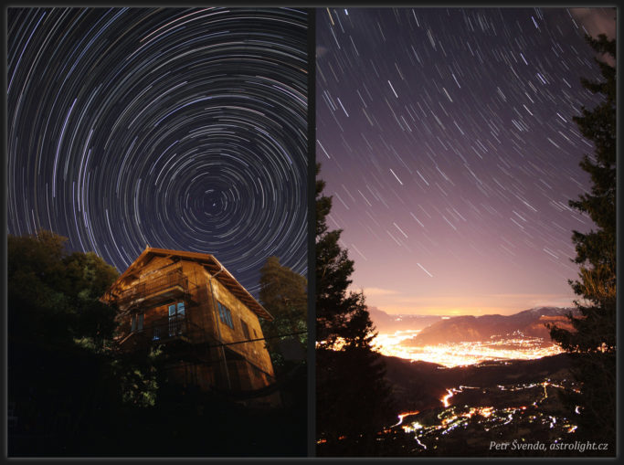 How to Photograph the Stars: Composites of 259 at 30 second intervals & 37 exposures at 20 second intervals.