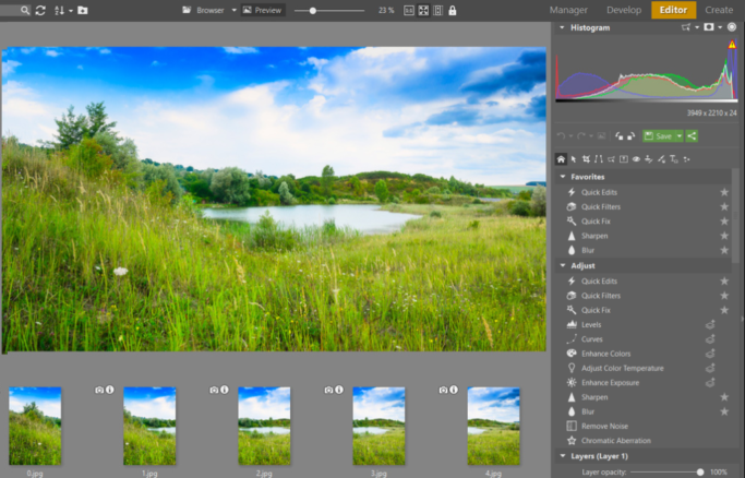 How to create a panorama: fine-tuning panorama in the Editor.