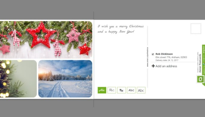 Prepare Your Own Christmas Greeting Postcard Right on Your Computer