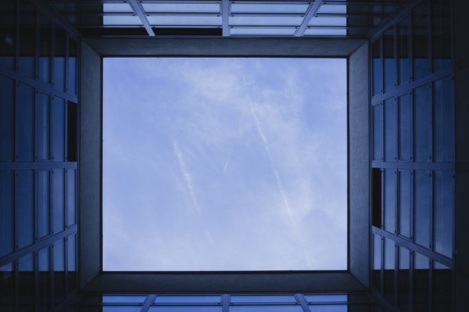 "Lift up your head, and you just might find a ""window"" to the heavens like this one."