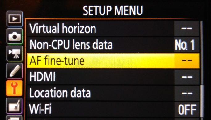 Focus Problems? Fine-tune Your Autofocus with Dot Tune