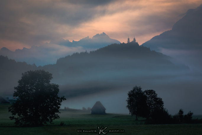 How to Photograph Fog: a church on a hill.
