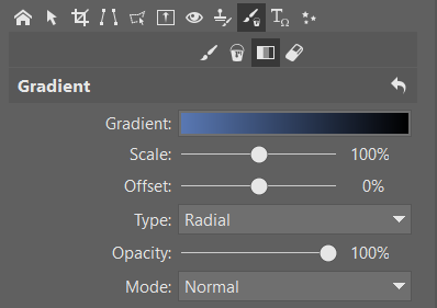 How to Crop Product Photos: the Gradient tool.