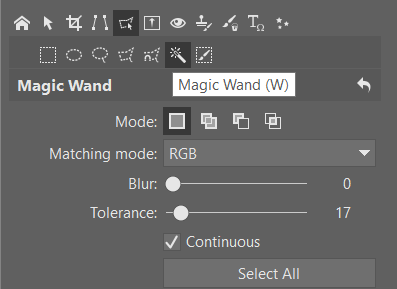 How to Crop Product Photos: Magic Wand menu,