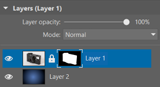 How to Crop Product Photos: selection of a layer mask.