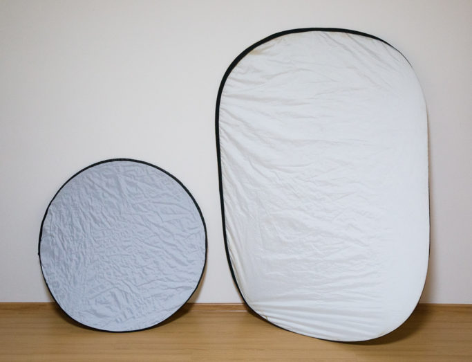 Reflectors of different sizes.
