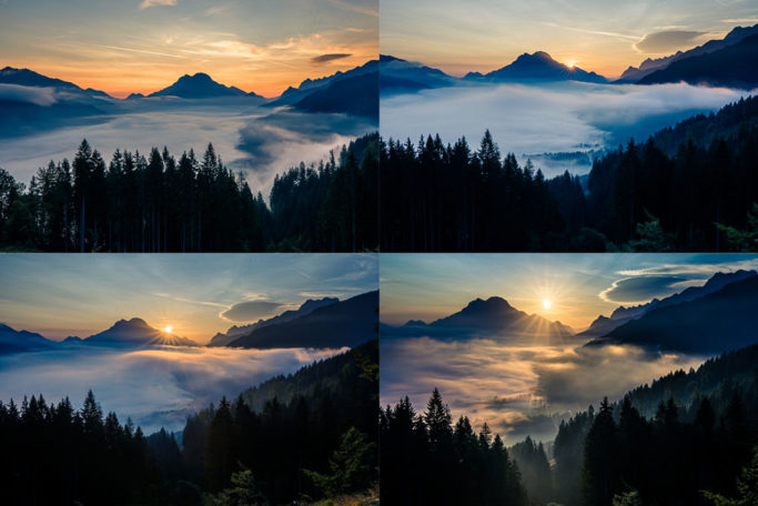 How to Photograph Fog: a sunrise in a fog.