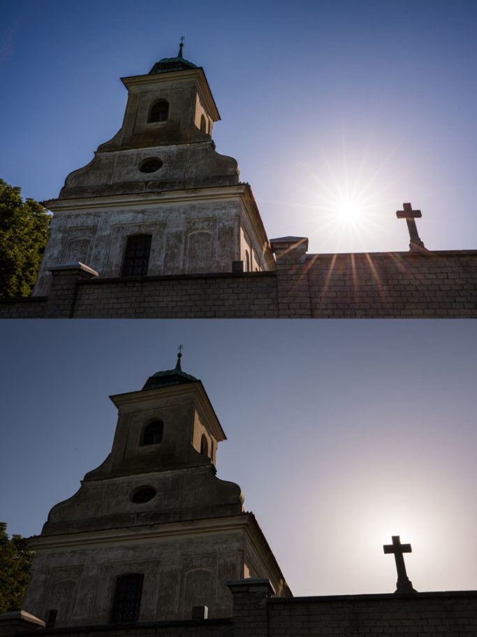 How to Photograph with the Sun in the Frame: hidden sun.