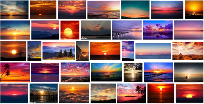 12 Photo Clichés: a sunset.