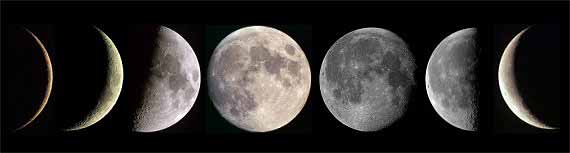 How to Photograph the Moon: moon phases.