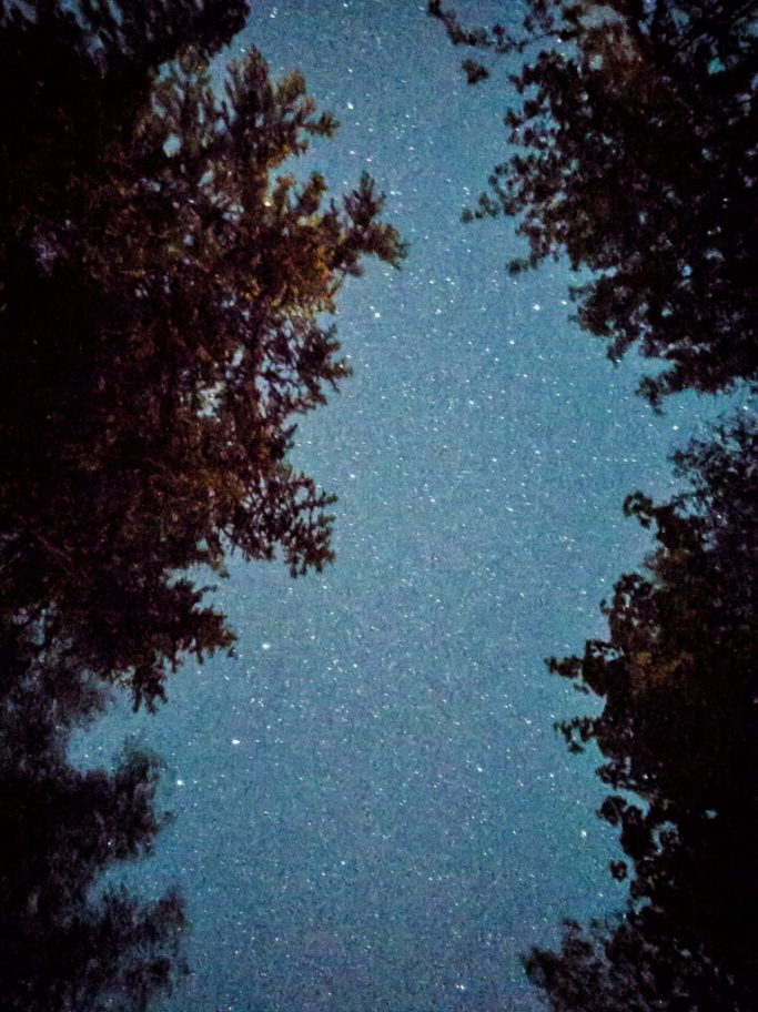 Taking Pictures With Your Phone: a photo of the starry sky, taken with a phone.
