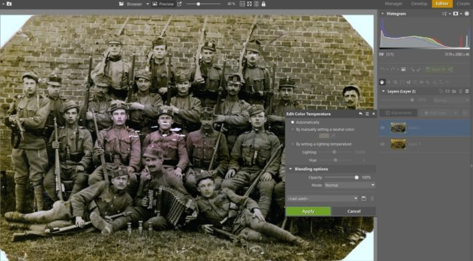 How to Save Your Old Photos: automatic color-temperature edits.