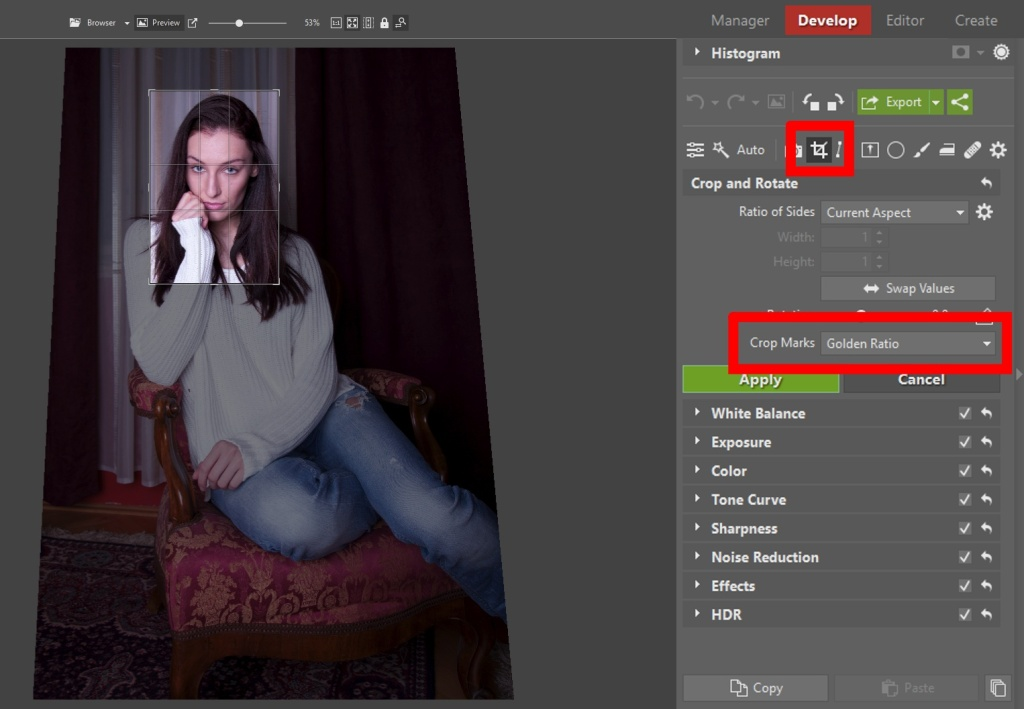 Learn to Edit Portraits and Discover the 5 Most Common Portrait Photo Problems- crop and rotate