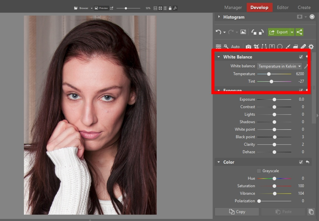 Learn to Edit Portraits and Discover the 5 Most Common Portrait Photo Problems- white balance