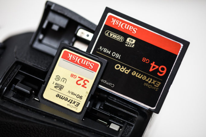 Photographing wedding kisses: memory cards.