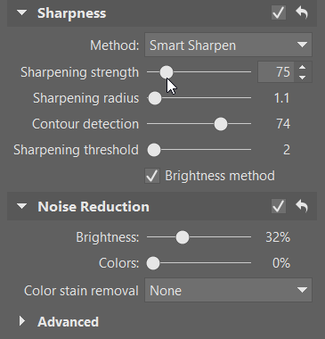 How to sharpen your photos: sharpening settings.