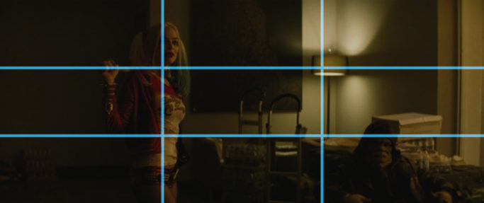 the rule of thirds in Suicide Squad - lines.