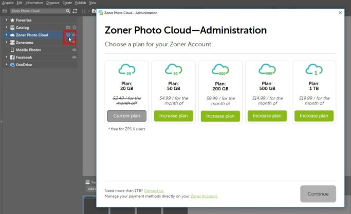 Back up your photos to the cloud: purchasing more space on the cloud.