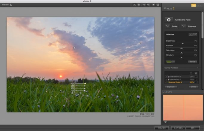 Local Edits of Landscape Photos: adding multiple nodes.