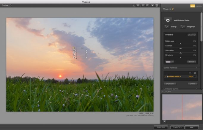 Local Edits of Landscape Photos: adding a node for easily editing.