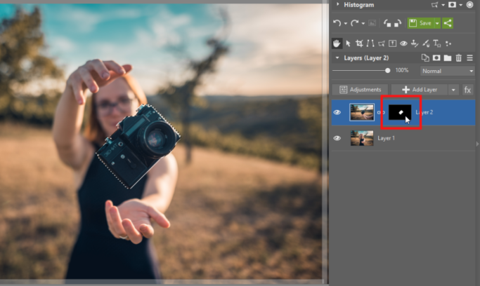 How to place one photo inside another: the layer mask.