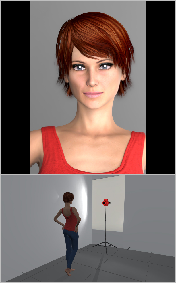 Portrait Photography Under Natural Light: light from the window - head-on..