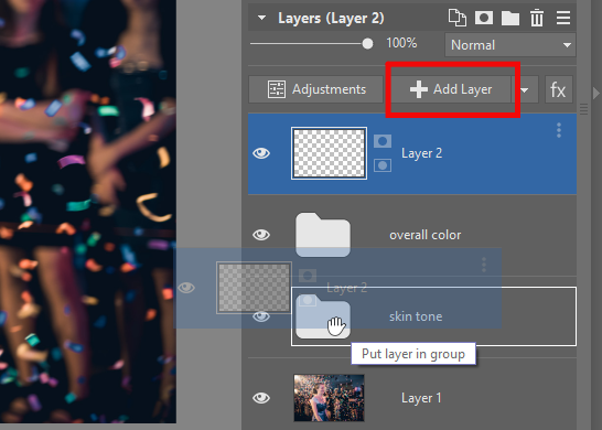 The Best Way to Fix Skin Color in Photos - add layer