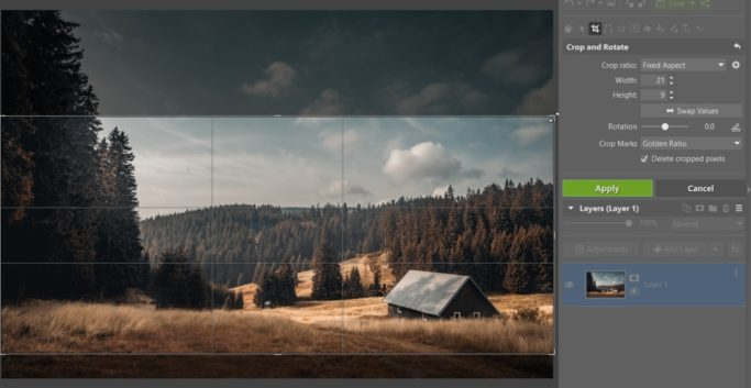 How to Improve a Photo With a Crop: a 21:9 Format.