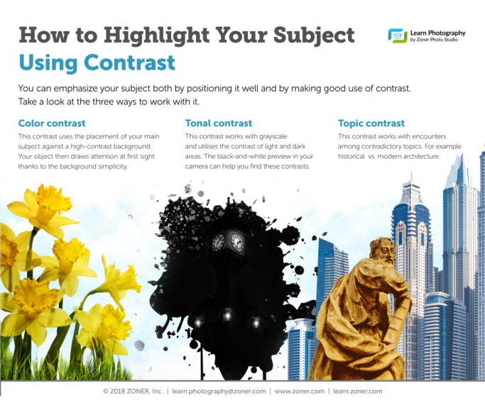 infographic: composition and contrast