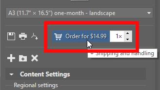 Create your own photo calendar: order a calendar.