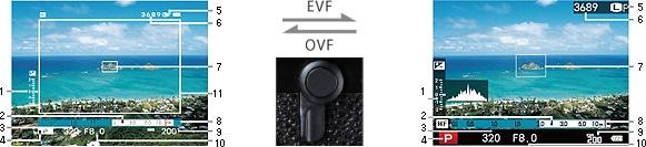 DSLR vs. Mirrorless: a hybrid viewfinder.
