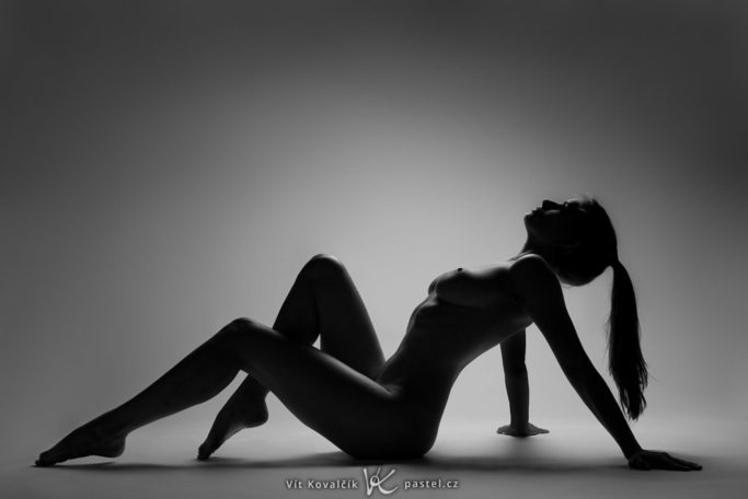Nude photography: a studio shot.