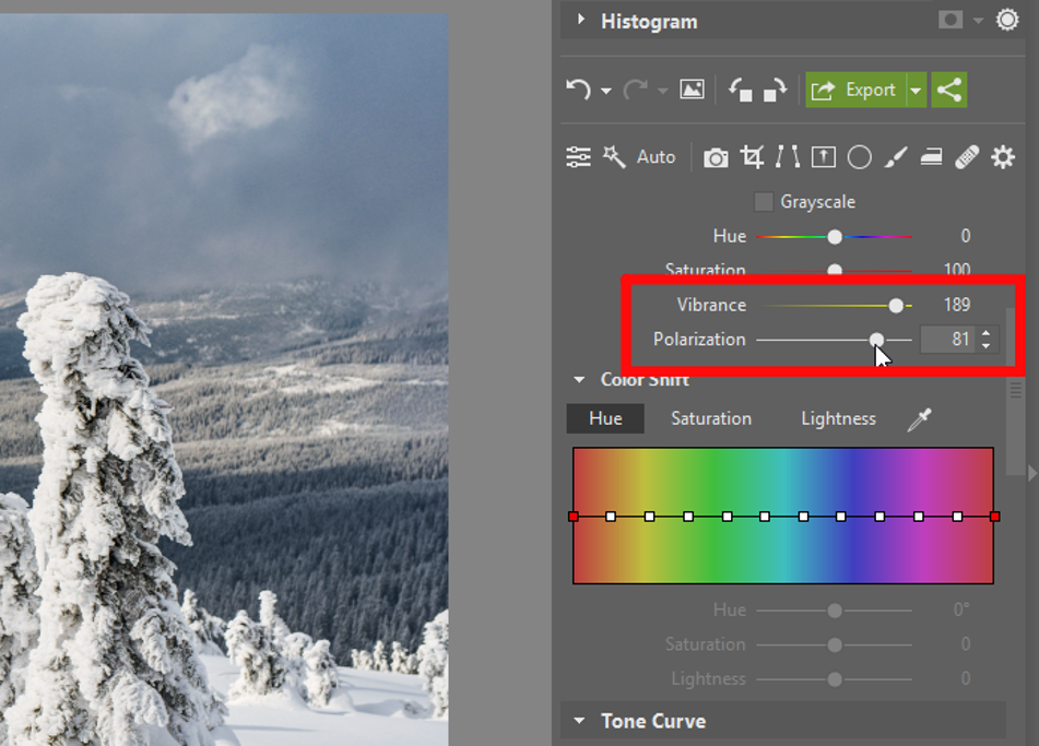 Add Pizazz to Your Winter Photos - color