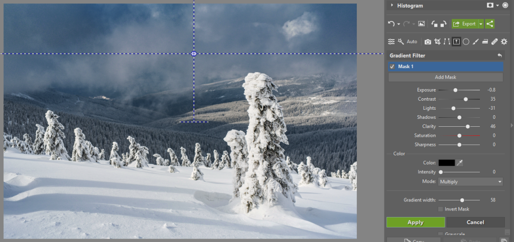 Add Pizazz to Your Winter Photos - gradient