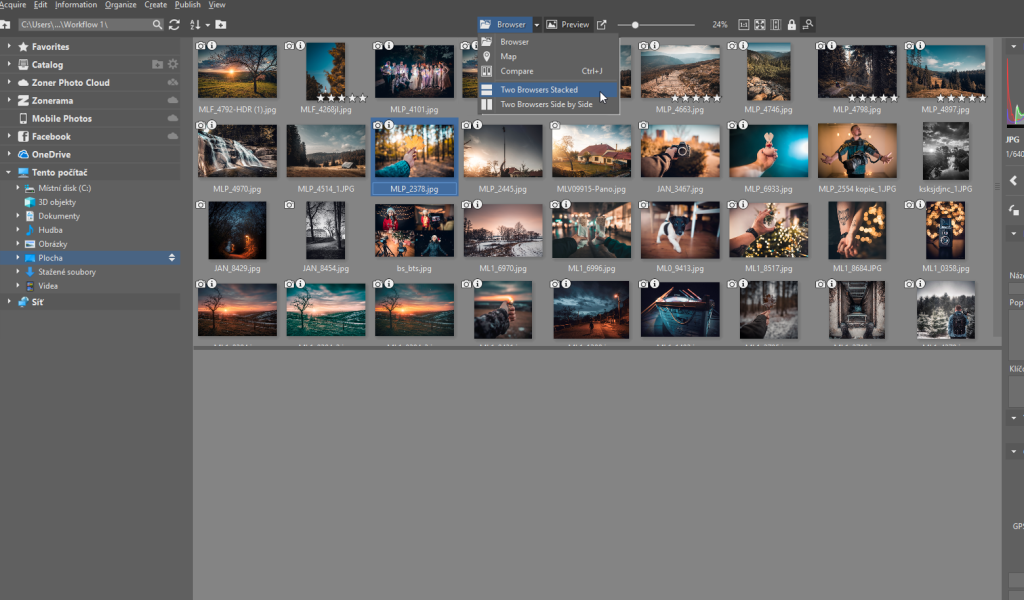 How to Import Photos - two windows