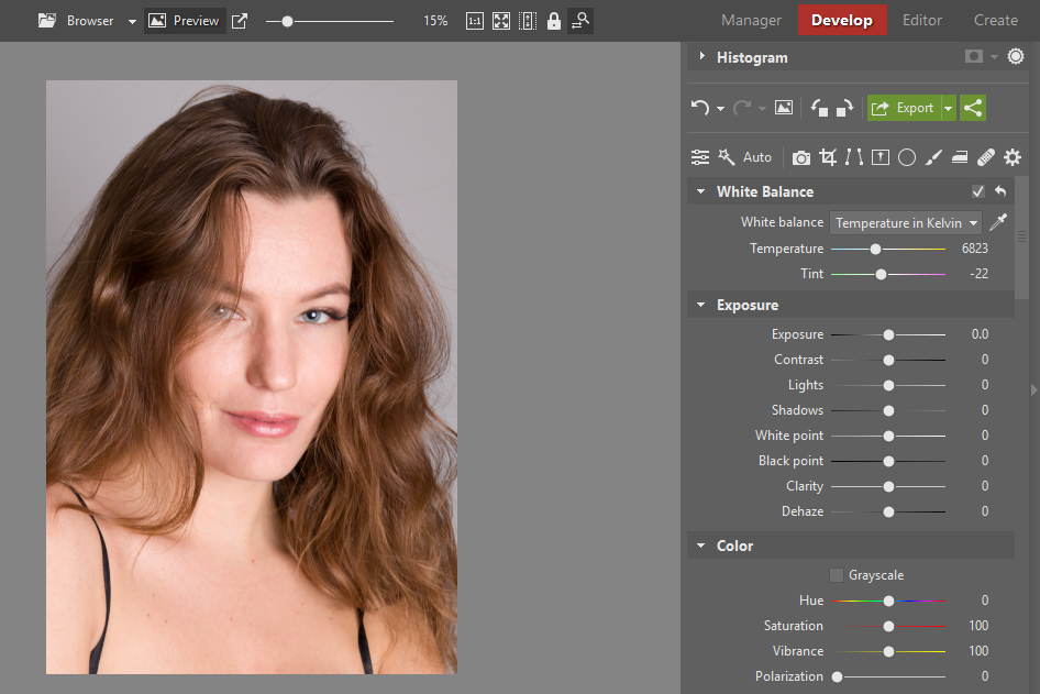 Learn to Retouch Portraits - white balance