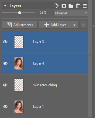 Learn to Retouch Portraits - editor layers