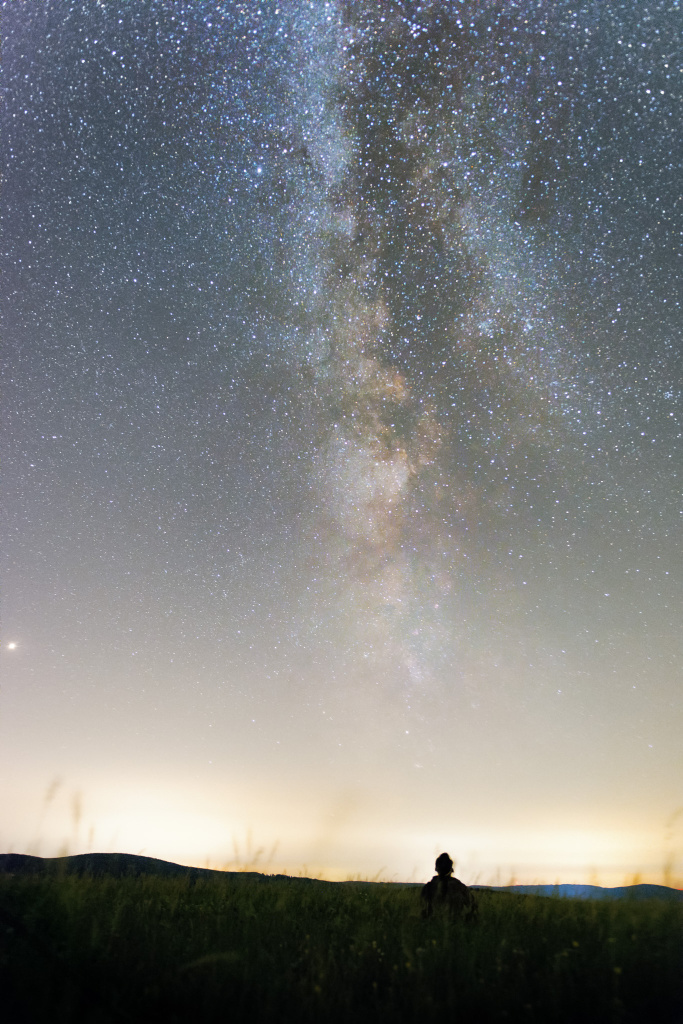 Photographing Landscapes at Night - me and the milky way