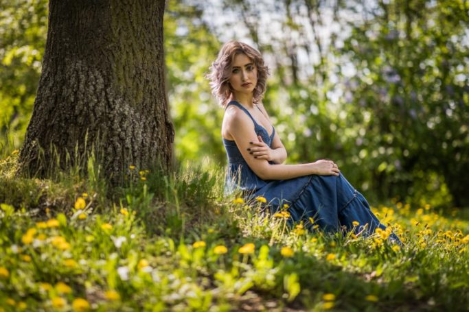 Photographing Models in Different Environments I - Nature