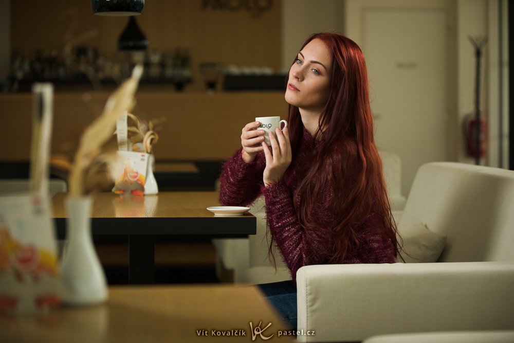 Photographing Models in Different Environments II - cafe 2