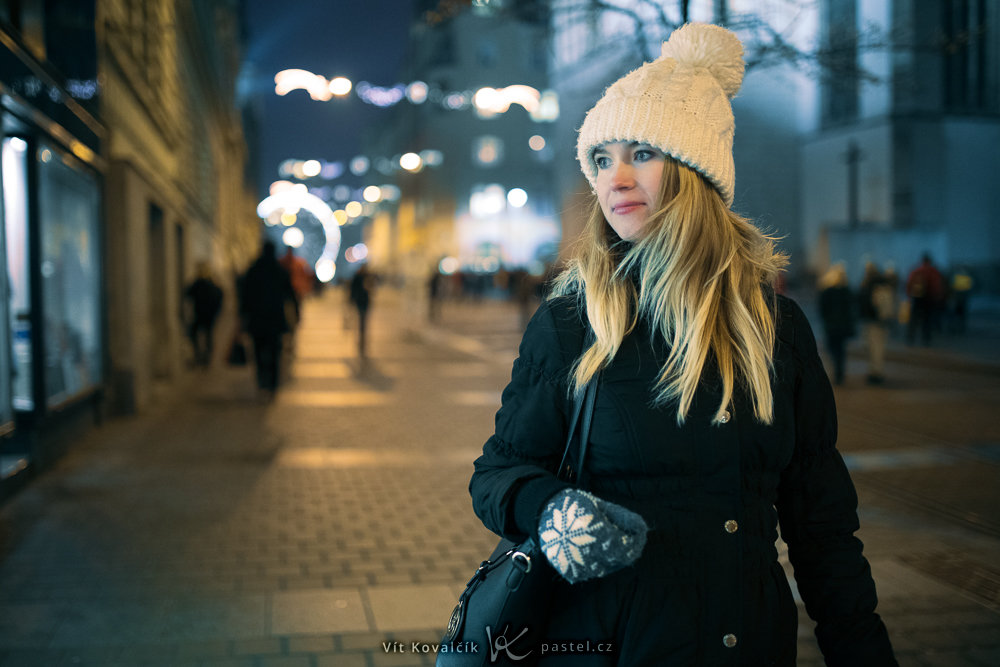 Photographing Models in Different Environments II - streets at night