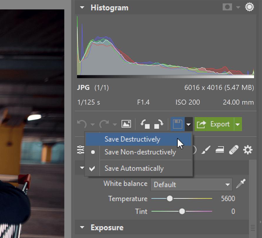 Destructive editing