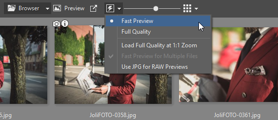 Smart RAWs - fast preview