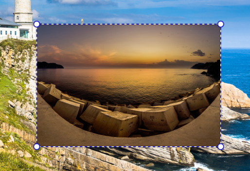 How Do You Create a Photo Collage - layer marks transformation