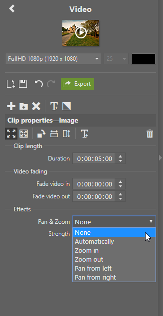 Creating Videos in ZPS X - pan and zoom