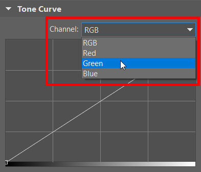 How Do You Fix Unhealthy Skin Tone - choosing colour on tone curve