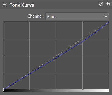 How Do You Fix Unhealthy Skin Tone - setting blue color on tone curve