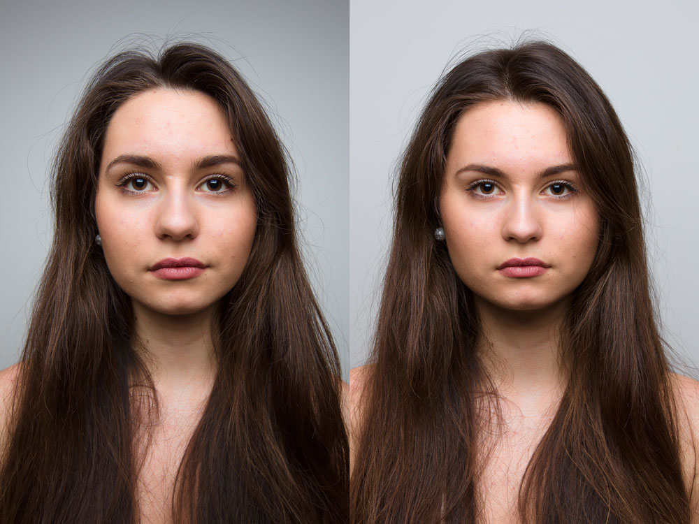 Foundations of Portrait Composition Part - comparison of photos taken with different lenses